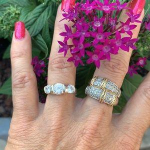Sterling Silver Premier Designs 3 Stone CZ Ring